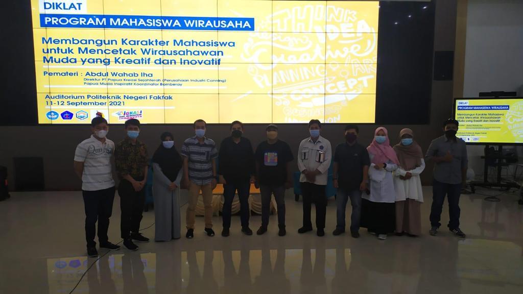 Diklat Program Mahasiswa Wirausaha (PMW) Polinef Tahun 2021